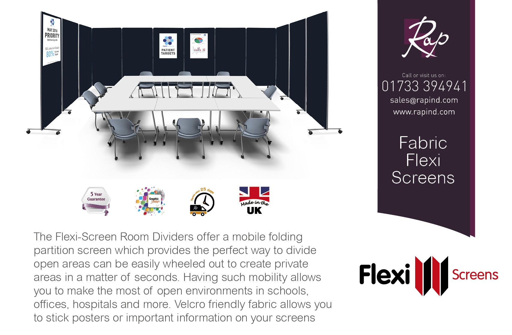 Flexi Screens Generic Advert - Fabric