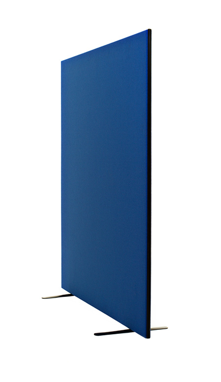Blue freestanding, instant ship pinnable office screen