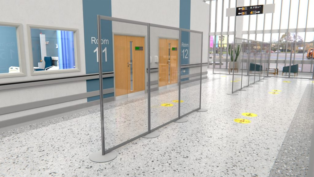 Modular Acrylic Social Distancing Screens