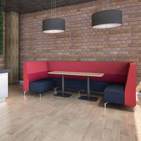 Rectangle Seating Booth, ideal for canteen and breakout areas