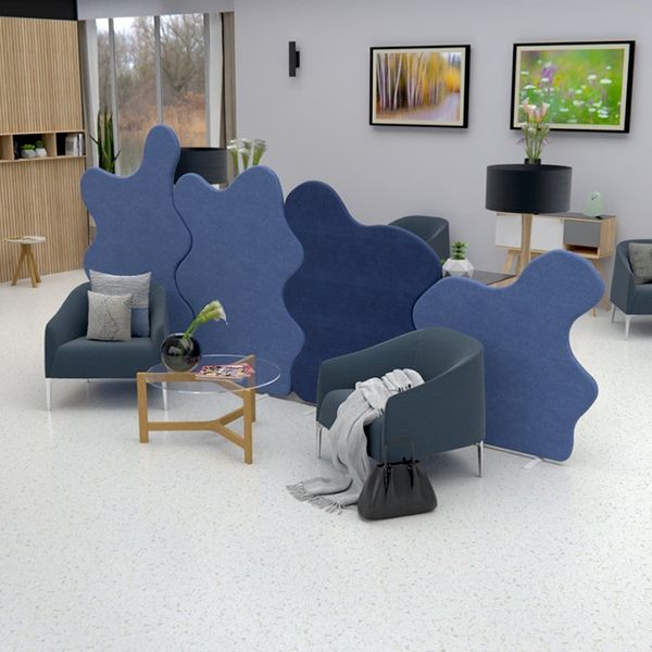 Delta Acoustic Screens are manufactured using 24mm acoustic foam on either side and upholstered in your chosen fabric