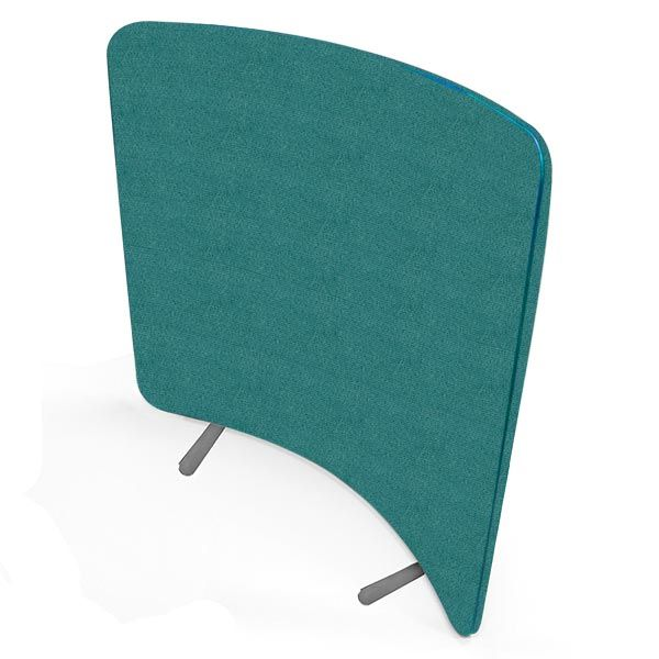 curve acoustic screens from the delta range, compatible with the  straight and wave acoustic design