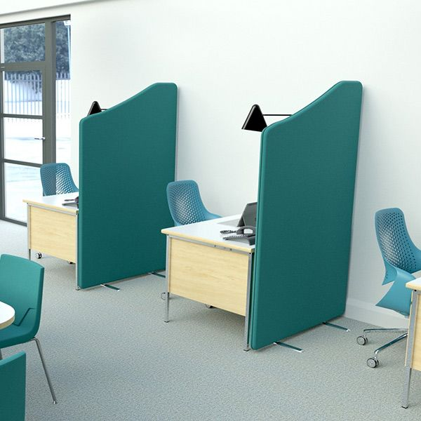 Delta Wavetop Screens, using double layered acoustic foam for maximum acoustic properties