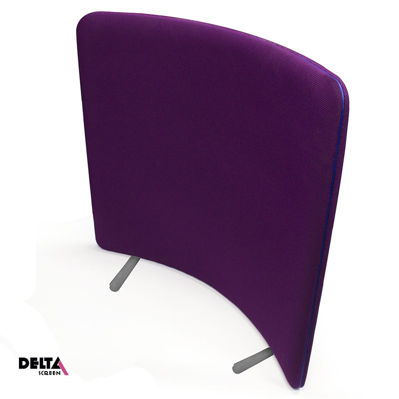 Delta Curve Screen, acoustic office partition with a curve shape