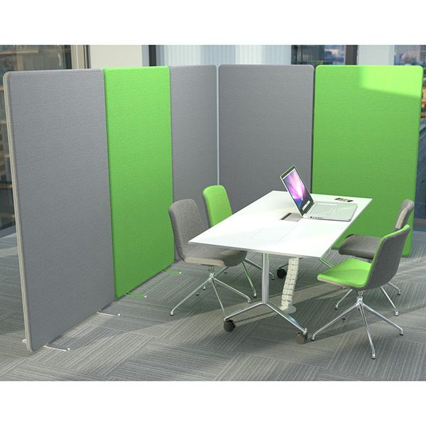 Acoustic Delta screens have been used to create an acoustic meeting room, suitable for open spaces.