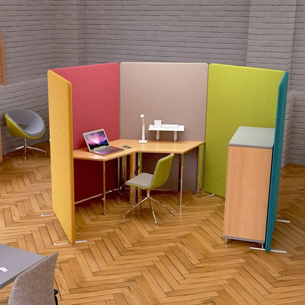 Delta Screens create the ideal open work booth in your open plan office