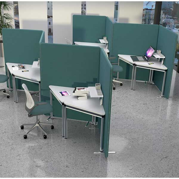 Acoustic Delta privacy pod, set of 4 acoustic office screens