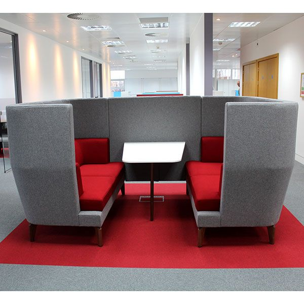 Entente Media Booth 2 seater including partition and table