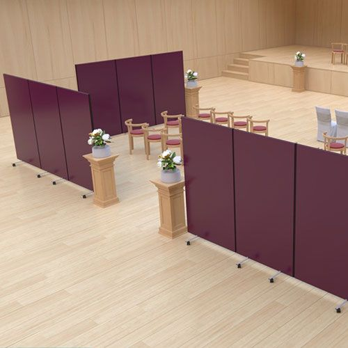 Portable room divider with a loop nylon finish
