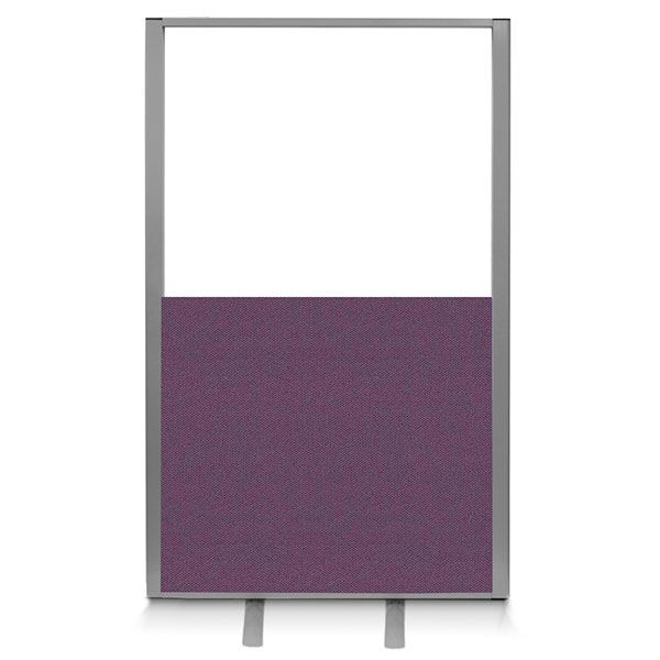 half vision office screen. Made with a top acrylic panel and a bottom acoustic panel.