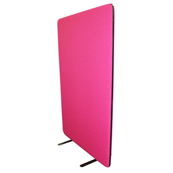 Free standing acoustic office screen