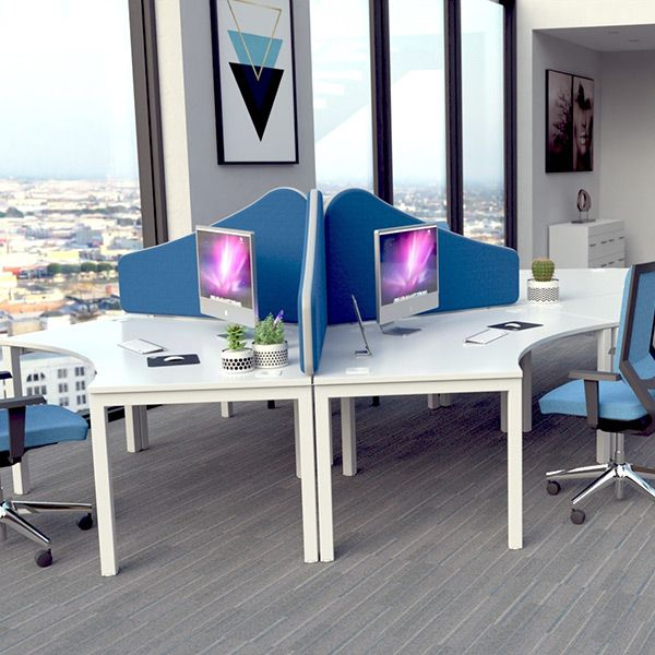 Omega Pinnable Wavetop desk partitions
