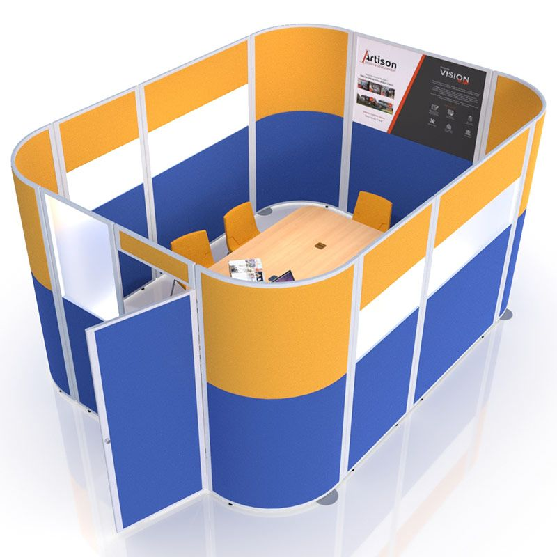 Prestige Acoustic Pod, create a stylish meeting room with printed panels, fabric and vision sections