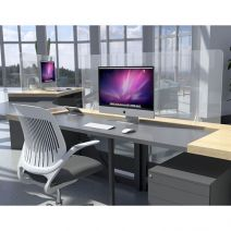 social distancing clear acrylic desk screen