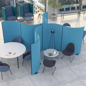 Budget curve acoustic office screens
