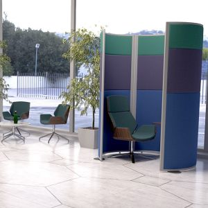 Concept Telephone Pod, made with acoustic office screens from the Concept range