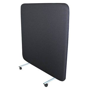 Delta Acoustic Portable Screen, supplied with castor feet as standard