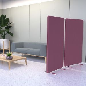Acoustic office partition from the Delta range.