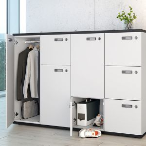 Modular 4 Section Locker Storage Unit