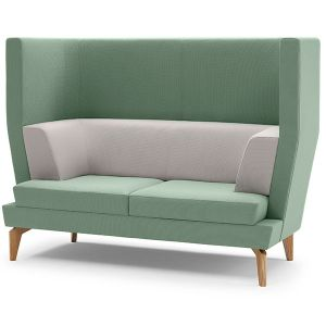 Entente 2 Seater High Back with Oak Legs
