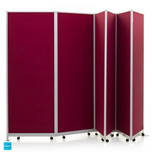 Mobi Lightweight Concertina Room Divider 6 Panel Kit