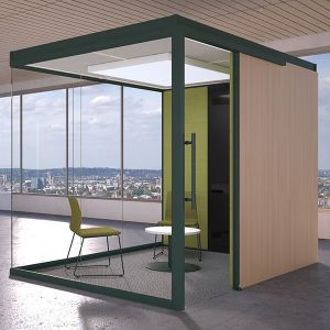 Infinity Acoustic Pod 1, designed for 2 person meetings