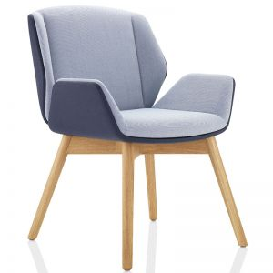 Kruze Chair Upholstered with Oak Wooden Base
