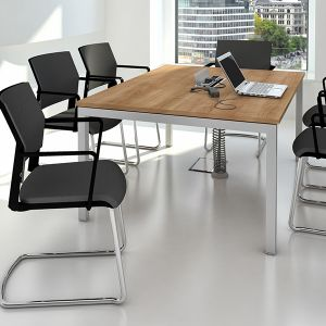 fixed height meeting table