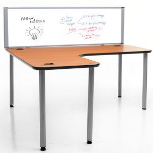 Morton Laminate Magnetic Drywipe Desk Dividers
