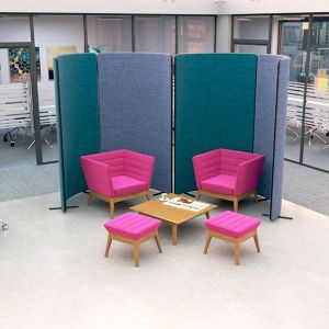 nova deluxe, curve acoustic office screen