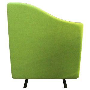 Wavetop acoustic office screens with lime green fabric, from the Nova range