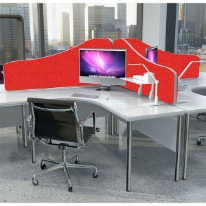 Omega+ acoustic desk divider