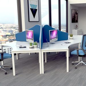 Omega Wave Desk Divider Screens