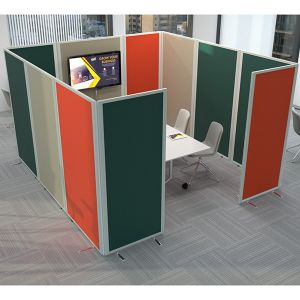 Safeguard office pod, using anti bacterial fabric.