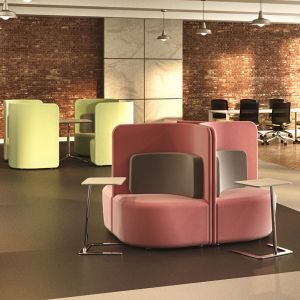 Shuffle Low-Back seating can be used to create private workspaces and meeting areas