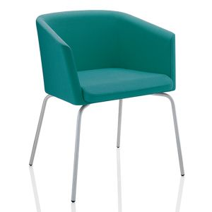 Toto Low Back Chair with 4-Leg Base