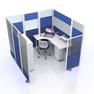 Acoustic and vision screen office privacy pod