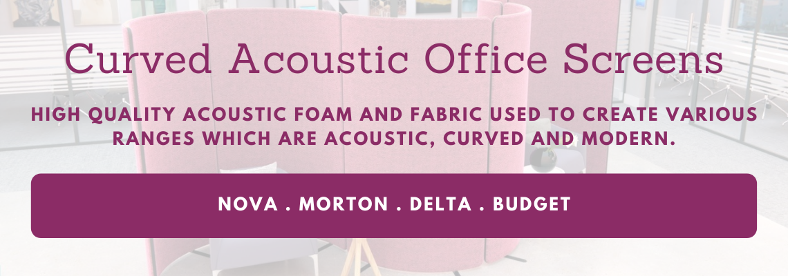 curved acoustic office screens