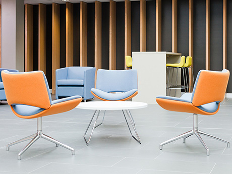 Chairs and Soft Seating available for both office work, breakout and reception areas