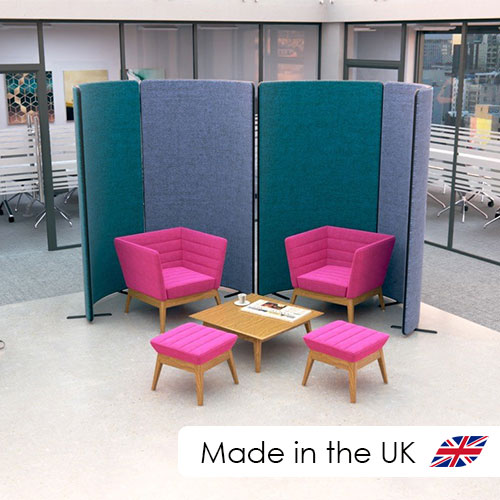curve acoustic office partitions from Rap Industries