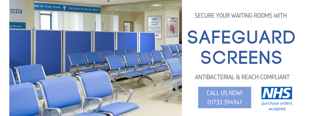 Safeguard Medical Screens, manufactured for hospital and healthcare environments