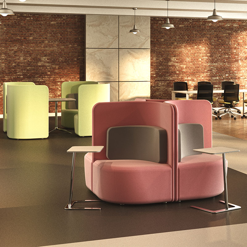 Shuffle Seating, ideal for breakout areas and individual working from Rap Industries