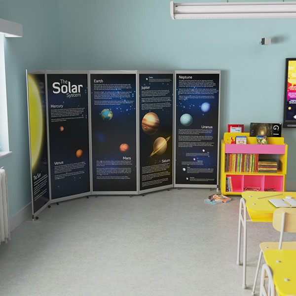 printed office screens and dividers from Rap Industries