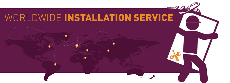 worldwide delivery and installation available