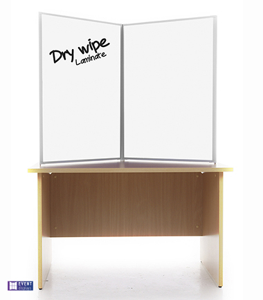 Easy Clean Dry Wipe Table Top Display Boards from Rap Industries
