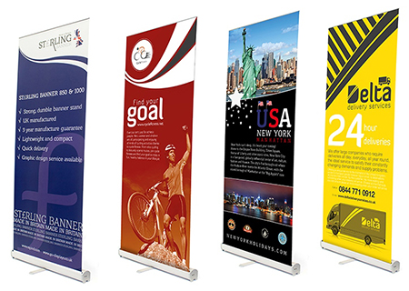 Roller Banners and Pop up Banner Stands from Rap Industries