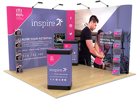Exhibition Stand Design and Sizes from Rap Industries
