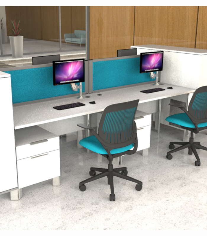Acoustic Desk Dividers provide the perfect acoustic privacy screens