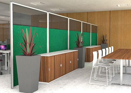 Glazed Office Screens from Rap Industries